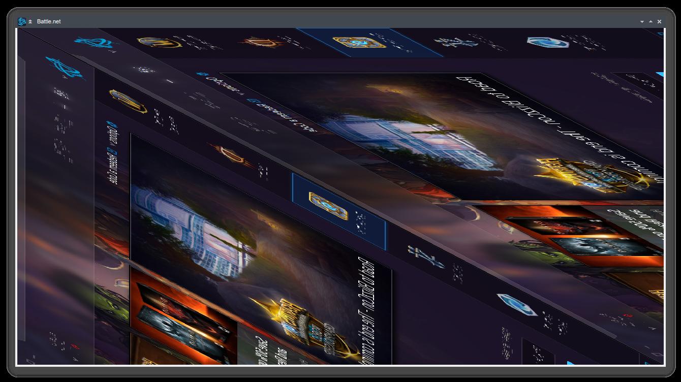 84651 – Distorted graphics or black window when running Battle net