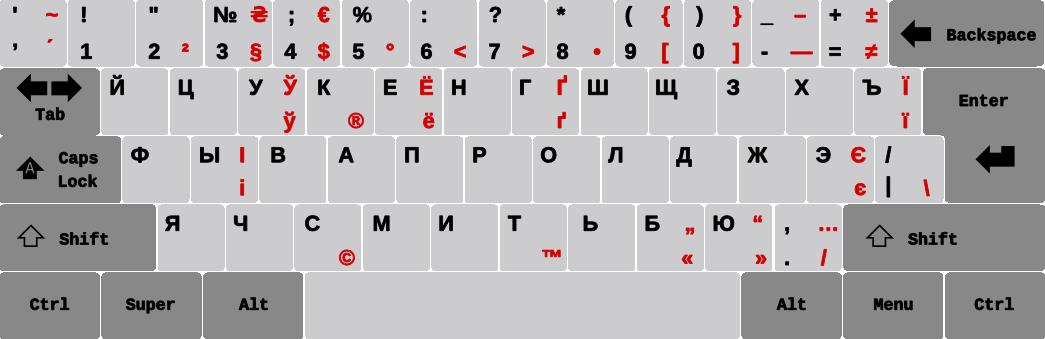 """Схема """"зеркальной"""" Украинской"""